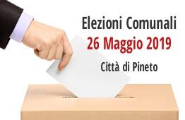 ELEZIONI COMUNALI CITTA' DI PINETO - 26 MAGGIO 2019