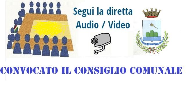 SABATO 25 NOVEMBRE CONSIGLIO COMUNALE IN SEDUTA STRAORDINARIA ED APERTA E, A SEGUIRE, IN SEDUTA PUBBLICA. VISIBILE IN DIRETTA STREAMING.