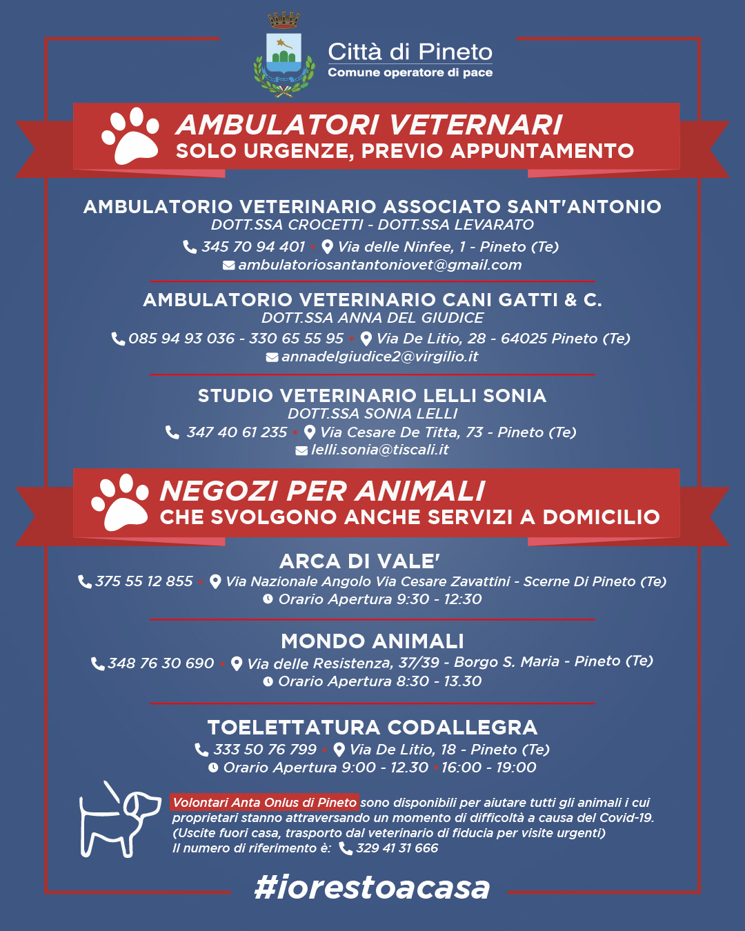 veterinari e negozi