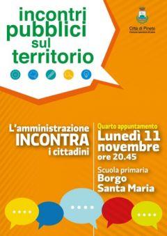 Locandina incontro pubblico Borgo Santa Maria
