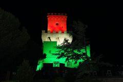 torre di cerrano illuminata